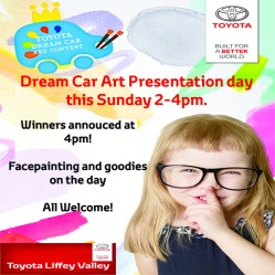 Toyota Liffey Valley Dream Car Art Presentation Day this Sunday