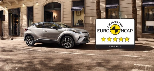2017 New Toyota C-HR awarded top five-star rating in Euro NCAP safety testing